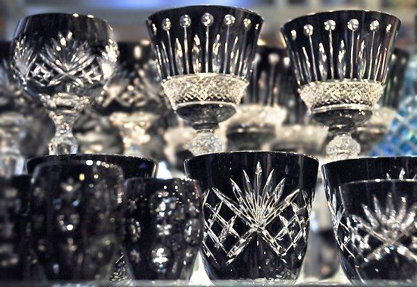 Crystal Glasses at Noztalgia Crystal Shop Budapest Hungery