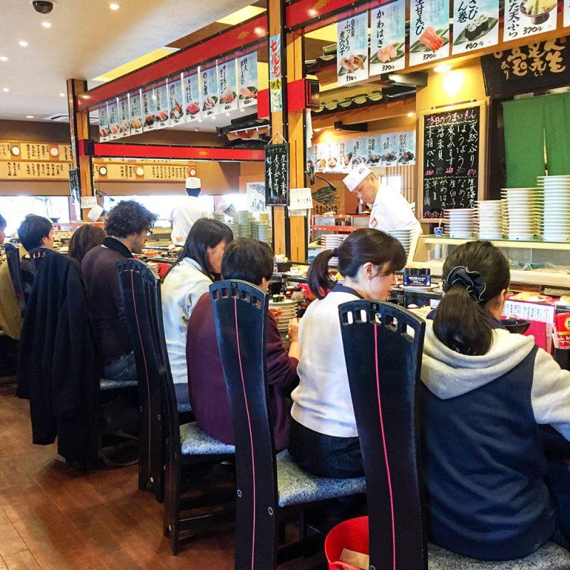 full sushi bar at maimon sushi kanazawa