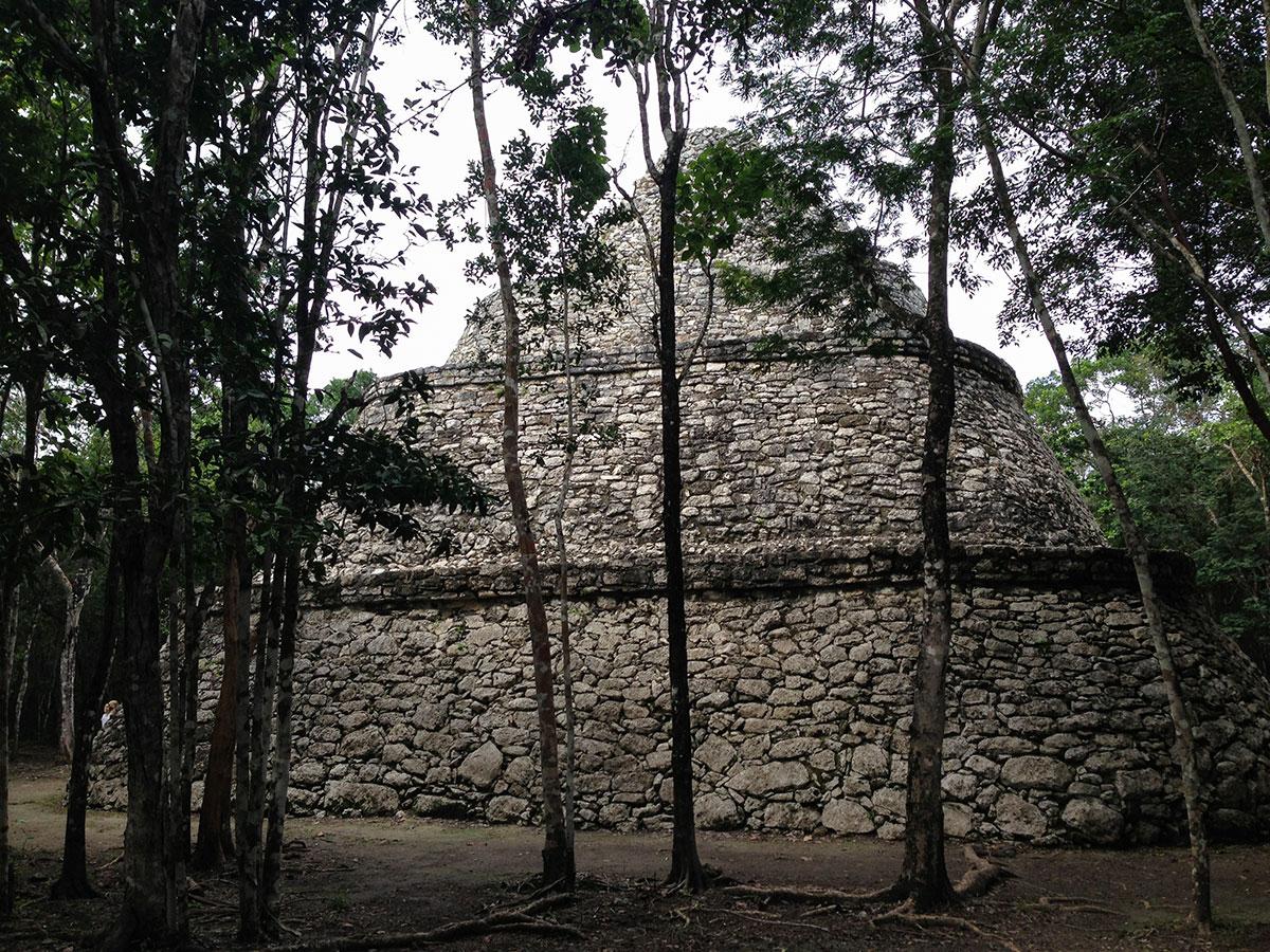 pyramid at the Zona Arqueológica de Cobá