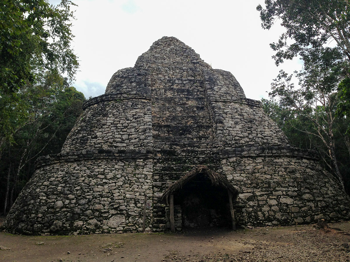 temple at the archeological complex of Coba