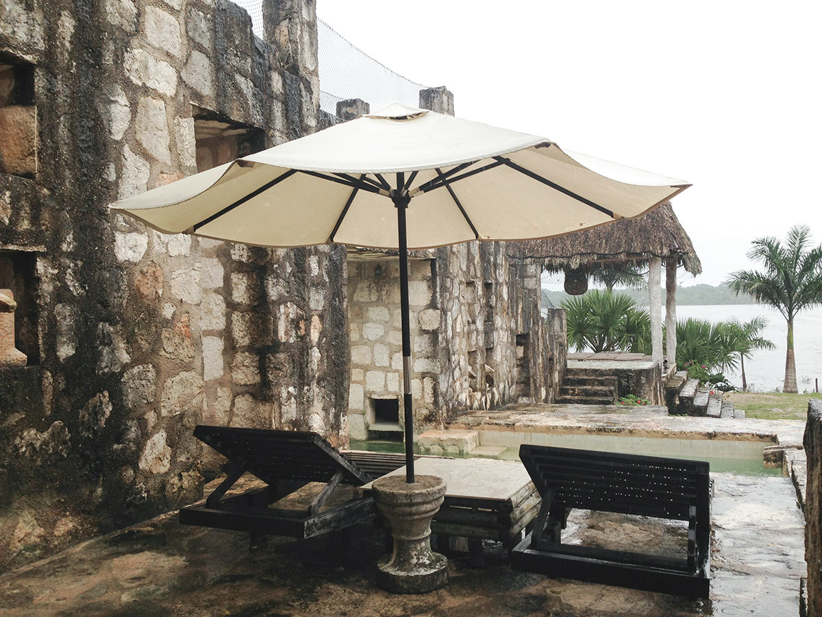 relax by the lake at the Coqui Coqui Hotel Coba