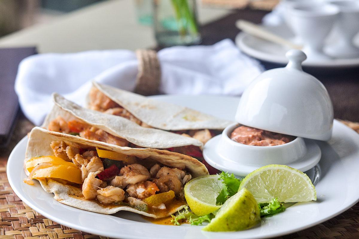 lunch tacos at the Coqui Coqui Hotel Coba