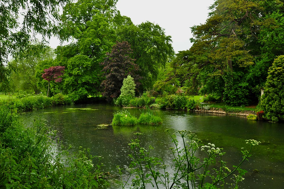 pond at Glencot House in Wookey Hole