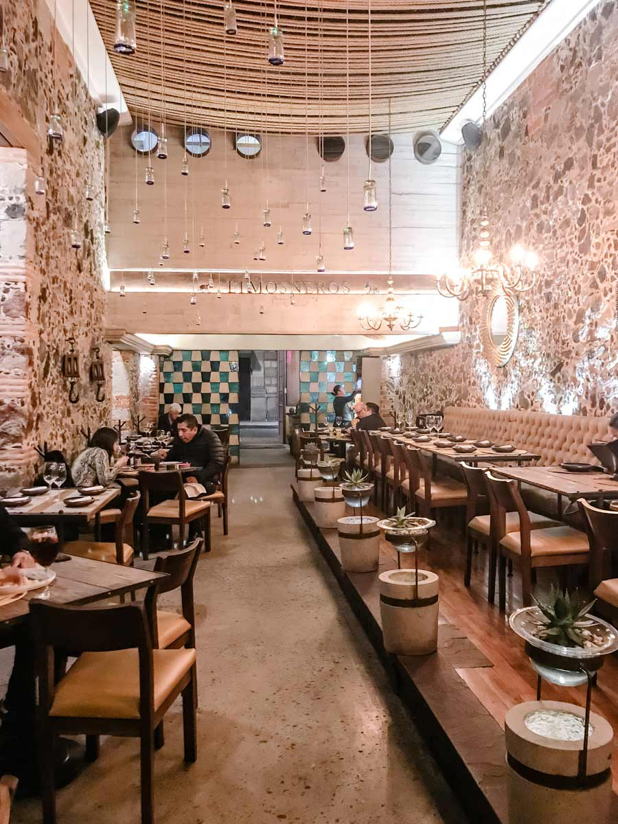 interior view of Limosneros -the best restaurant in downtown cdmx
