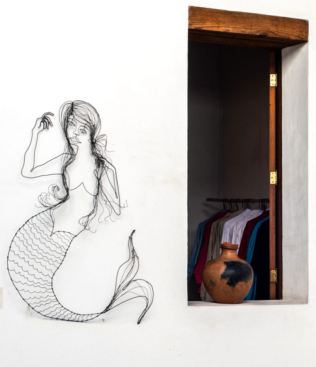 Wire Sculpture at Tienda Q design shop Oaxaca