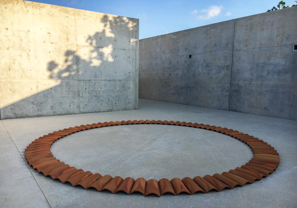 Ceramic Ring Instllation at the casa wabi in puerto escondido