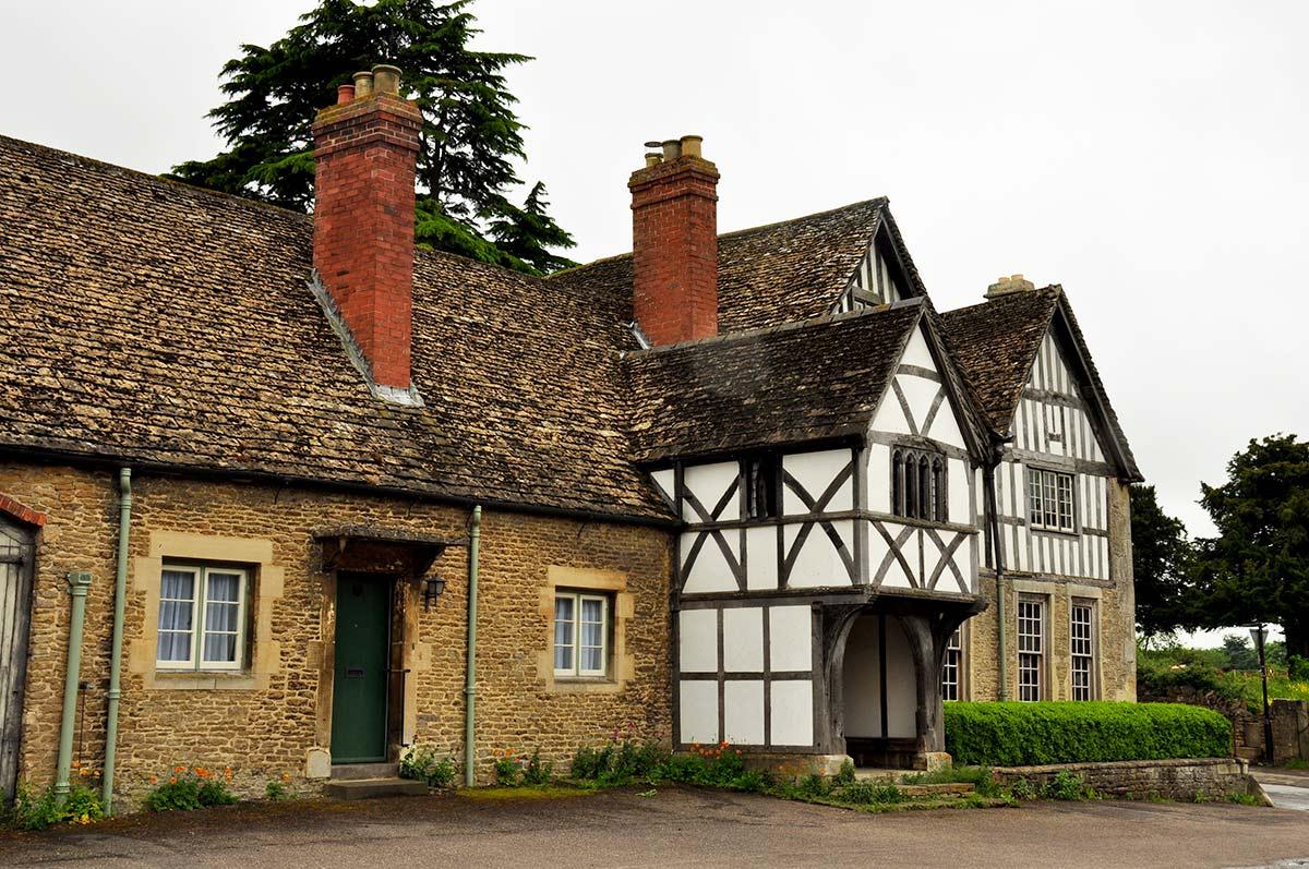 picturesque Lacock Village in somerset  near Chippenham